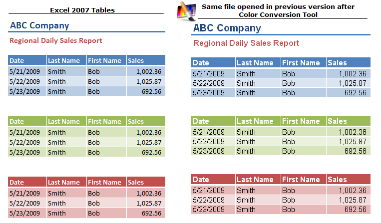 Excel 39 s color palette compatibility solution for Table design tab excel