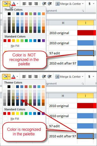 Excel's Color Palette Compatibility Solution