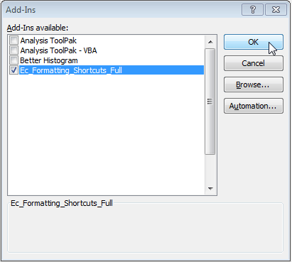 Enable Excel Add-in