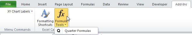 Quarter Formulas Ribbon Screenshot