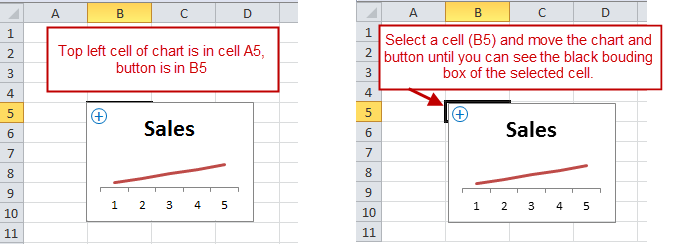 Move Chart and Zoom Button - Top Left Corner Intersects Same Cell