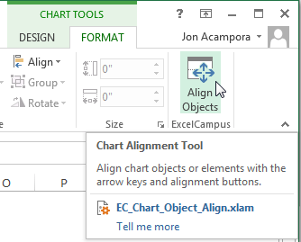 Chart Alignment Add-in Button