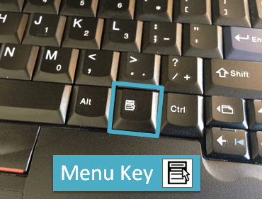 Windows Context Menu Key Keyboard