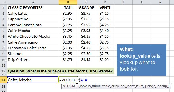 Excel Vlookup Explained Lookup Value What