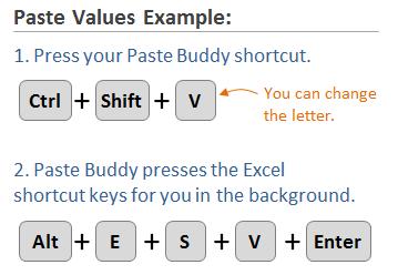 Paste Buddy Paste Values Example