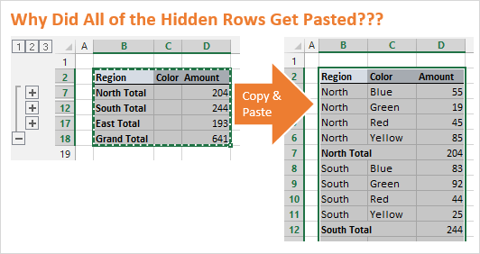 Copy Paste Select Visible Cells in Excel