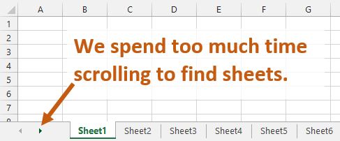 Spend Too Much Time Scrolling Worksheets Excel