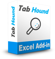 Tab Hound Add-in for Excel Box