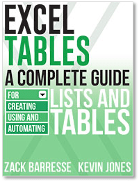 Excel Tables eBook - Zack Barresse - Kevin Jones