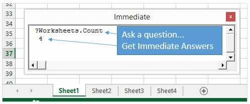 5 Ways to Use the VBA Immediate Window - Excel Campus