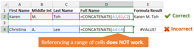 How To Concatenate a Range of Cells in Excel + VBA Macro