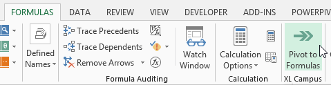 Pivot Table to SUMIFS Formulas Button in Ribbon