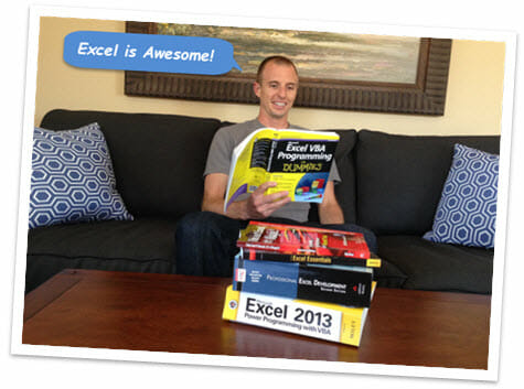 Jon with Excel Books Photo