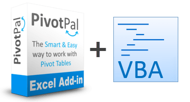 PivotPal Box + VBA Source Code side-by-side
