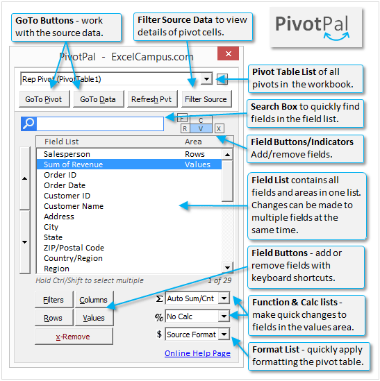 PivotPal Window Diagram v1.0