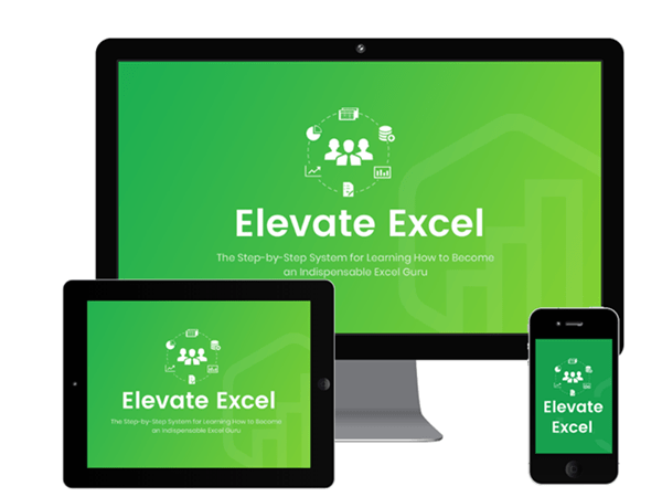 Elevate Excel Logo on Monitors 600