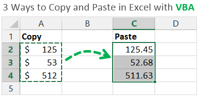 3 Ways to Copy and Paste in Excel with VBA Macros