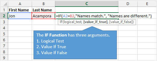 Excel IF Function Explained