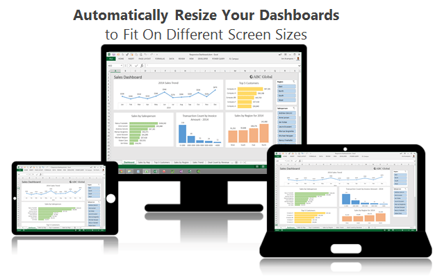 Resize Excel Dashboards to Fit On Different Screen Sizes - Responsive