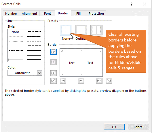 Why Cell Borders Disappear When Hiding Rows & Columns +