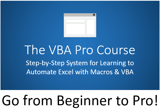 VBA Pro Course Beginner to Pro Banner 480