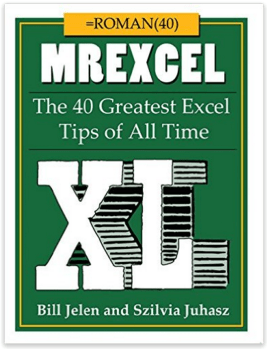 MrExcel XL The 40 Greatest Excel Tips of All Time - Book Cover