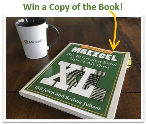 Win a Copy of the Mr Excel 40 Greatest Tips Book