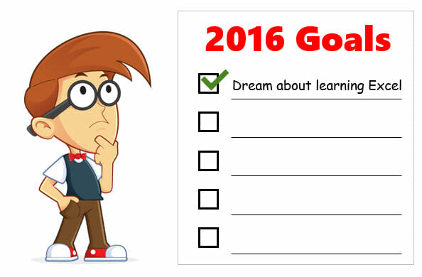 Andy with 2016 Goal List Excel