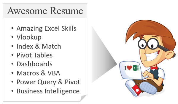 Andy with his Awesome Excel Resume
