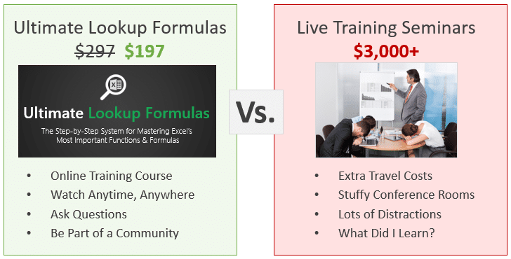 Ultimate Lookup Formulas vs Live Training 197 731x370