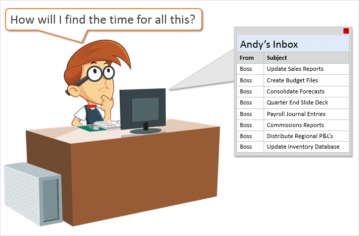 Andy How Will I Find Time For All The Excel Tasks