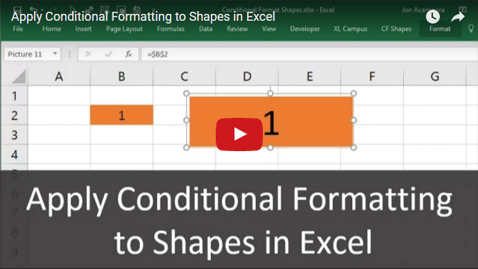Apply Conditional Formatting to Shapes in Excel Youtube Thumb 689x388