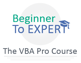 Beginner to Expert VBA Pro Course