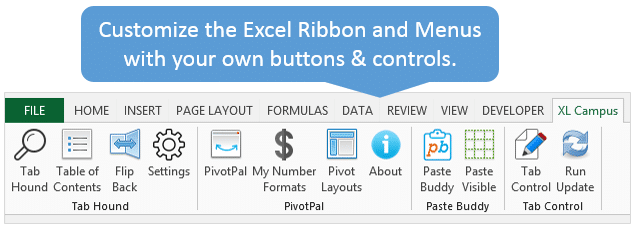 Customize the Excel Ribbon
