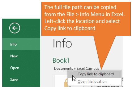 Excel Copy Full File Path to Clipboard