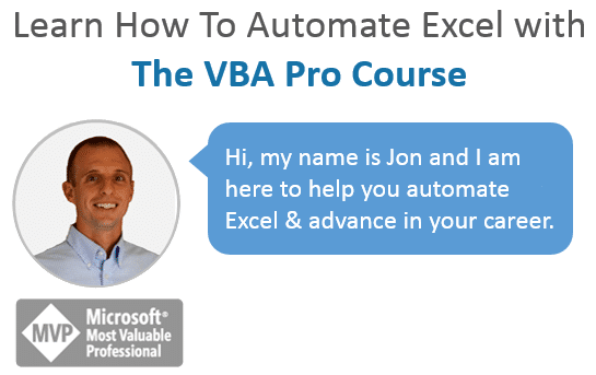Learn How to Automate Excel VBA Pro Course Jon