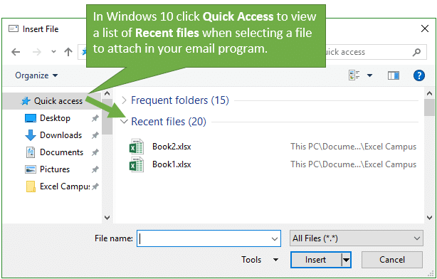 3 Ways to QUICKLY Attach Excel Files to Emails - Excel Campus