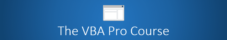 The VBA Pro Course Banner Logo 780x140