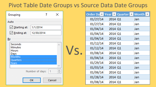 Grouping Dates In A Pivot Table Versus Grouping Dates In The Source
