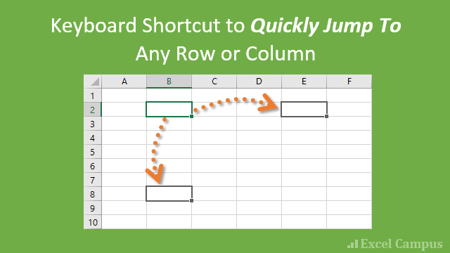 Keyboard Shortcut to Jump To Any Row or Column in Excel