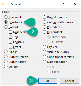 goto-special-menu-to-select-text-error-and-logical-values