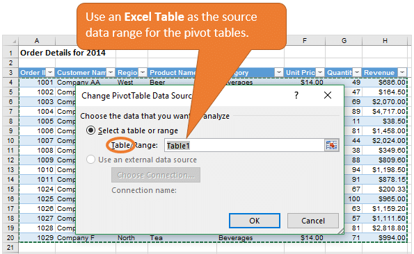 use-an-excel-table-as-the-source-data-range-of-a-pivot-table
