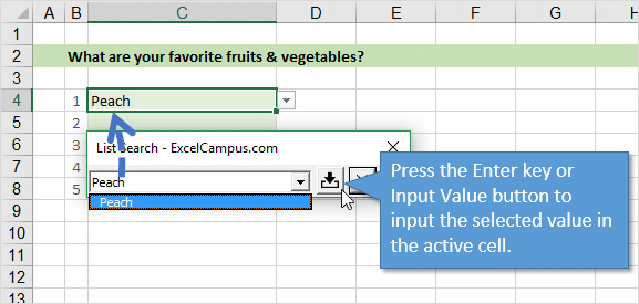 enter-key-or-input-value-button-to-enter-value-in-cell-list-search