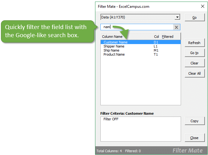 filter-field-list-with-search-box-filter-mate-for-excel