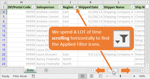 horizontal-scrolling-to-find-applied-filter-icon-button-in-excel