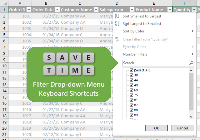 keyboard-shortcuts-for-excel-filter-drop-down-menus