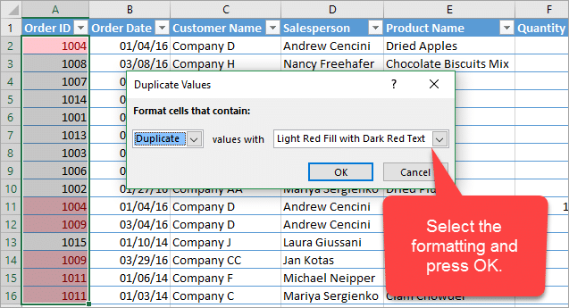 conditional-formatting-for-duplicate-values-window