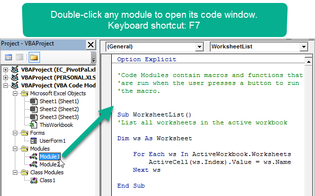VBA Code Modules & Event Procedures for Sheet & ThisWorkbook