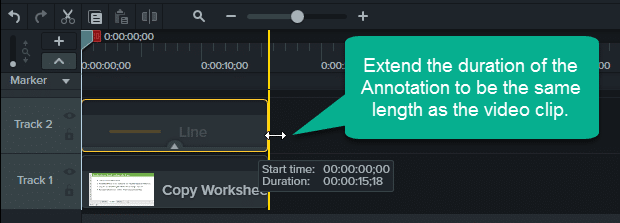 Step 2 - Extend the Duration of the Annotation -GIF Progress Bar
