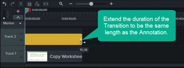 Step 3 - Extend the Duration of the Transition -GIF Progress Bar